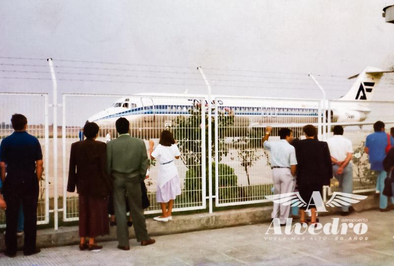 Mirador de la Terminal de Alvedro años 90. Foto: Victor L. Ayerbe